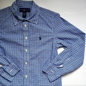 Boys Ralph Lauren Button Down Checkered Shirt